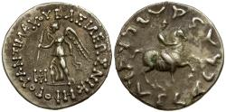 Ancient Coins - Kings of Bactria. Antimachos AR Drachm / King on Horseback