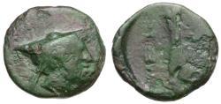 Ancient Coins - Thessaly. Pherai. Alexander. Tyrant Æ14 / Horse's Leg