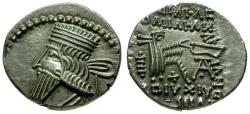 Ancient Coins - EF/EF Kings of Parthia, Vologases III AR Drachm