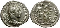 Ancient Coins - Severus Alexander AR Denarius / Fides