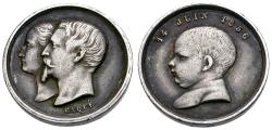 World Coins - France. Napoleon III and Eugenie AR Baptismal Medalet / Celebrating Birth of Their Son