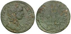 Ancient Coins - Julia Mamaea (AD 222-235). Ionia Ephesus Æ30 / Cultus Statue