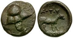 Ancient Coins - Thessaly. Skotoussa Æ Chalkous