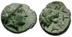 Ancient Coins - Troas. Antandros Æ9 / Lion