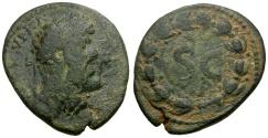 Ancient Coins - gF+/gF+ Lucius Verus, Syria Antioch Æ26 / Wreath