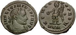 Ancient Coins - Licinius I (AD 308-324) Æ Follis / Genius