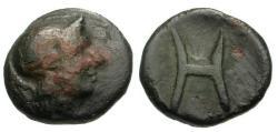 Ancient Coins - aVF/aVF Peloponnesos, Arkadia Heraia Æ Chalkous / Athena