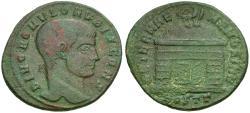 Ancient Coins - Divus Romulus (died AD 309) Æ Follis / Domed Shrine