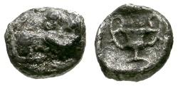 Ancient Coins - aVF/aVF Thraco-Macedonian Region, Uncertain mint AR Hemiobol / Ram / Kantharos