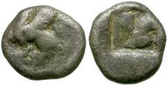 Ancient Coins - Ionia. Teos AR Trihemiobol / Griffin