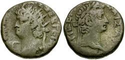 Ancient Coins - Nero. Egypt. Alexandria Billon Tetradrachm / Tiberius
