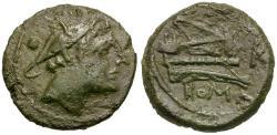 Ancient Coins - 211-208 BC - Roman Republic. Wheat Ear Æ Sextans