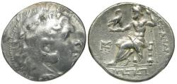 Ancient Coins - Kings of Macedon. Alexander III The Great (336-223 BC) AR Tetradrachm / Meander Pattern