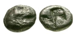 Ancient Coins - aVF/aVF Asia Minor, Uncertain mint AR Hemiobol / Lion
