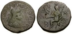 Ancient Coins - gF+/aVF Bosporian Kings, Sauromates II Æ Double Denarius / Aphrodite Seated