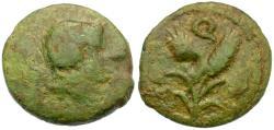 Ancient Coins - Sicily. Uncertain Æ16 / Grain Ears