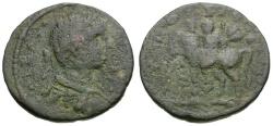 Ancient Coins - Severus Alexander. Phoenicia. Ptolemais-Ake Æ21 / Emperor on Horseback