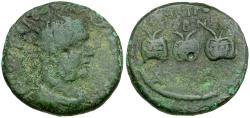 Ancient Coins - Valerian I. Galatia. Ancyra Æ24 / Three Prize Urns