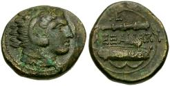 Ancient Coins - Kings of Macedon. Alexander III the Great Æ19 / Club and Bow in Case