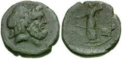 Ancient Coins - Sicily. Syracuse. Under Roman Rule Æ21 / Tyche