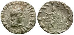 Ancient Coins - Baktria. Greco-Baktrian Kingdom. Hermaios (105-90 BC). Posthumous Indo-Skythian Issue AR Drachm / Zeus Enthroned
