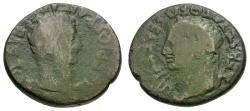 Ancient Coins - Tiberius.  Macedon. Edessa Æ22 / Portraits