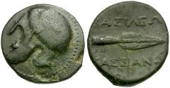 Ancient Coins - Kings of Macedon. Kassander Æ18 / Spearhead