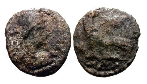 Ancient Coins - gF/gF Theodoric or Athalaric Ostrogoth 40 Nummi / Roma and Eagle