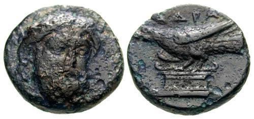 Ancient Coins - aVF/EF Mysia Adramytteion AE11 / Eagle above Altar