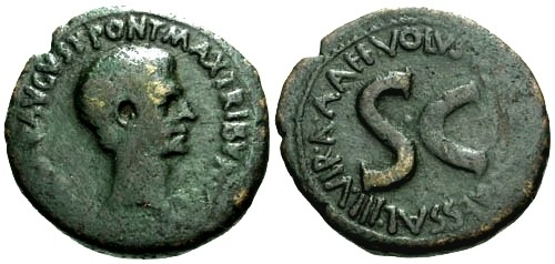 Ancient Coins - aVF/aVF Augustus AE AS / S C