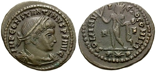 Ancient Coins - @@FAILMEZGER COLLECTION@@ VF/aVF Constantine I as the Great &#198 Follis / Sol