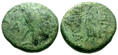Ancient Coins - F/F Kingdom of Armenia Tigranes II AE15 / Nike