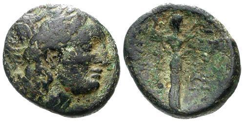 Ancient Coins - gF/F Seleukos I, Nikator AE 20 / Apollo, Athena