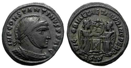 Ancient Coins - VF Constantine I AE3 / Two victories