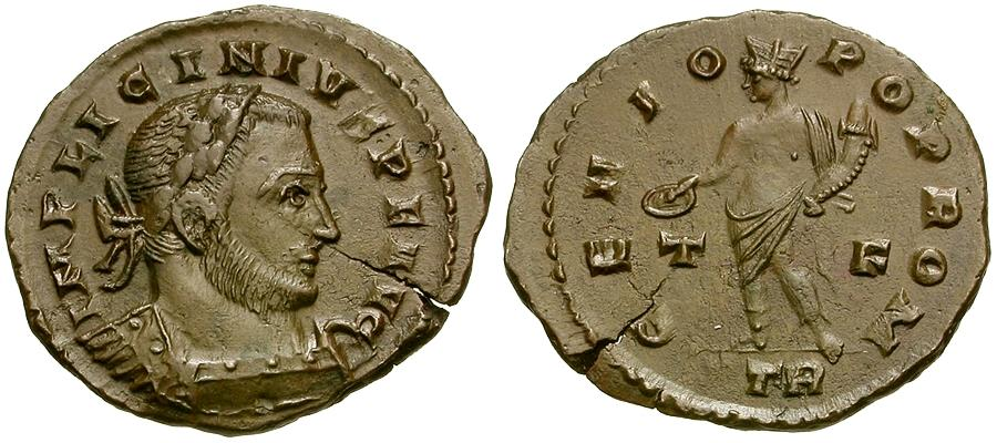 Oude munten - Licinius I & # 198;  Follis / Genius