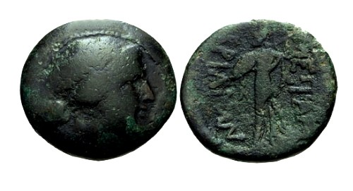Ancient Coins - F/F Thrace Mesembria AE21 / Athena