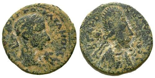 Ancient Coins - aVF/aVF Gordian III AE24 Edessa Mesopotamia Abgar X