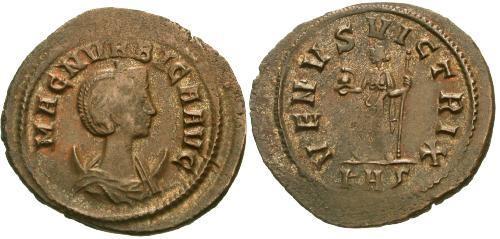 Ancient Coins - VF/VF Magnia Urbica Antoninianus / Venus