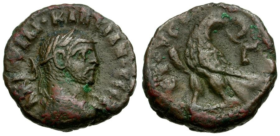 Ancient Coins - Diocletian. Egypt. Alexandria Æ Tetradrachm / Eagle