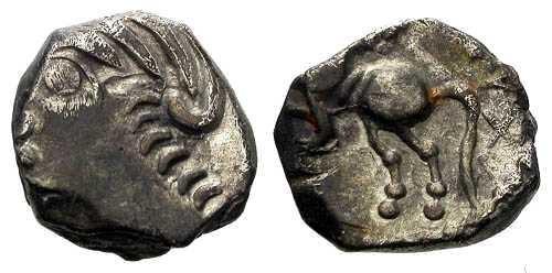 Ancient Coins - EF/EF Sequani Silver Unit / TOGIRIX