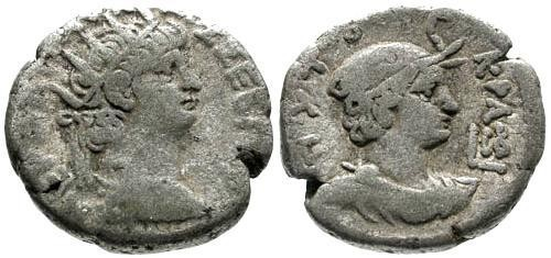 Ancient Coins - VF/aVF Nero Alexandria Egypt Billon Tetradrachm / Alexandria