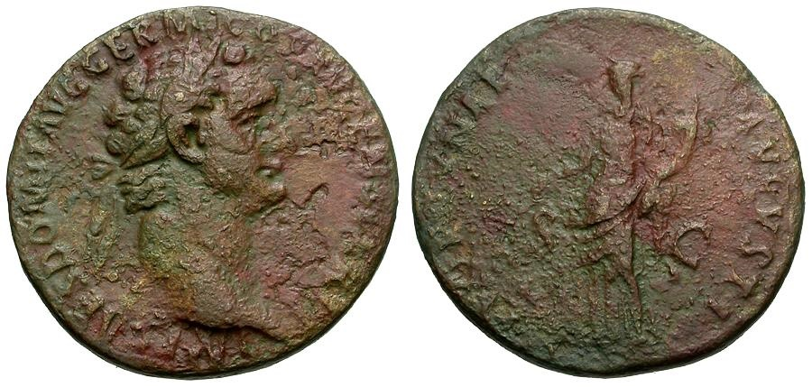 Ancient Coins - Domitian.  Æ AS / Fortuna