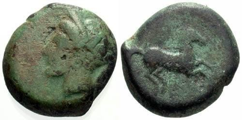 Ancient Coins - F/F+ Cast Siculo-Punic 16mm Bronze