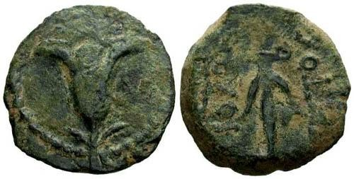 Ancient Coins - VF/VF Antiochus VII Prutah / Lily