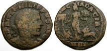 Ancient Coins - Philip I. Dacia Æ27 / Dacia between Eagle and Lion