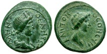 Ancient Coins - Mysia. Pergamon. Pseudo Autonomous Æ16 / Roma / Senate