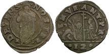 Ancient Coins - Italy. Republic of Venice. Doge Antonio Priuli Billon 12 Denari