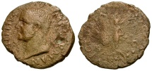 Ancient Coins - Vitellius Æ AS / Victory