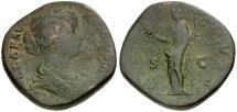 Ancient Coins - Lucilla Æ Sestertius / Vesta
