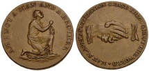 Great Britain. Middlesex Political and Social Series. Anti-Slavery Æ Halfpenny Token